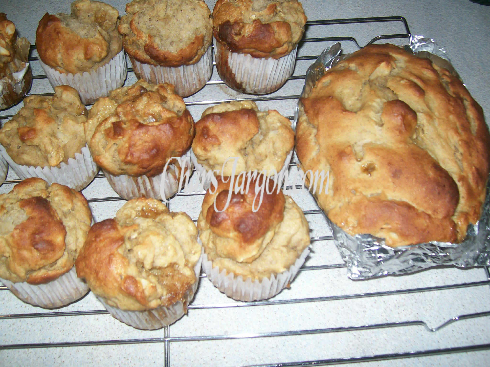 Gluten Free Banana Walnut muffins